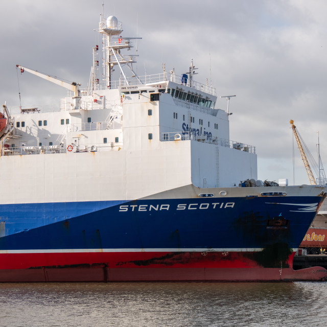 """Port of Belfast, Northern Ireland"" stock image"