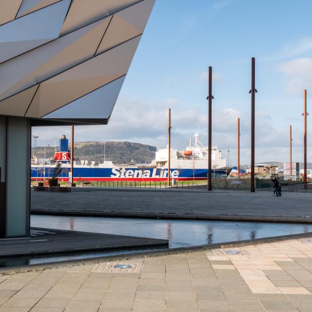 """Titanic Belfast, Northern Ireland"" stock image"