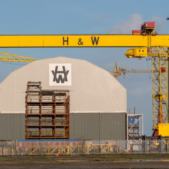 """Harland and Wolff, Belfast, Northern Ireland"" stock image"