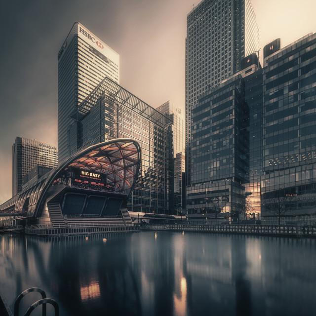 """""""Serene Wharf"""" stock image"""