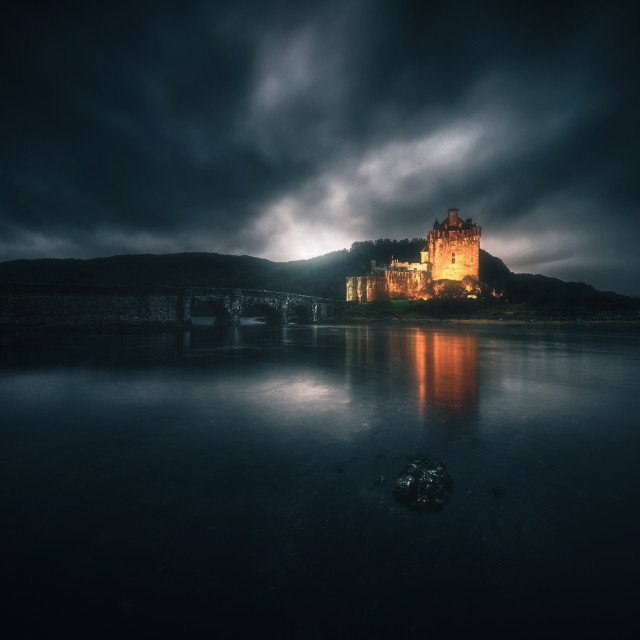 """""""Castle in the storm"""" stock image"""