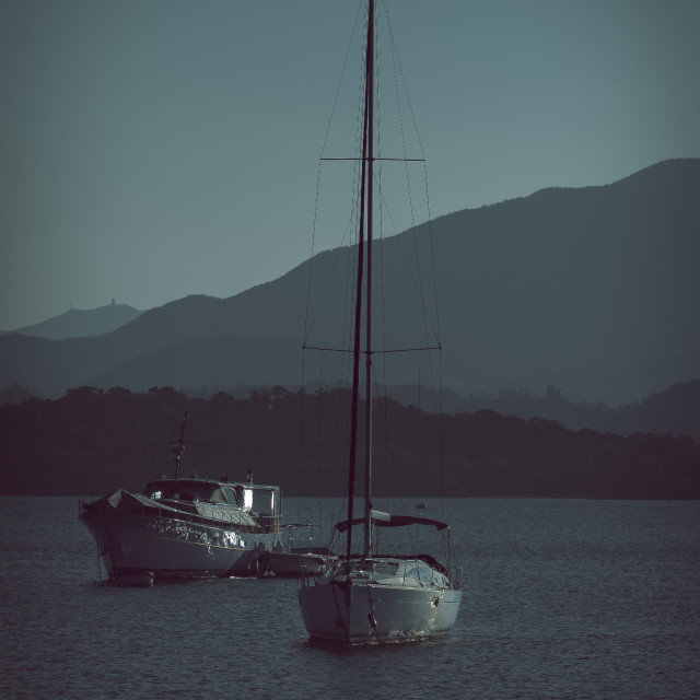"""Sailing soon"" stock image"