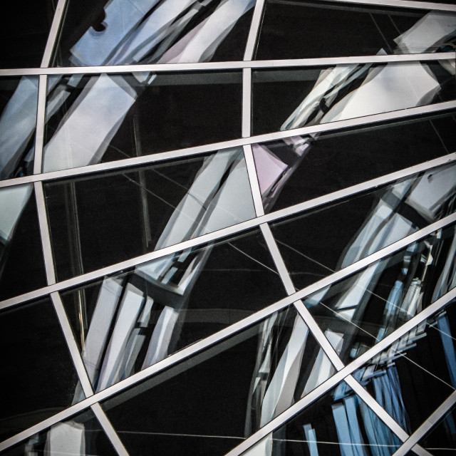 """""""Abstract image of glass panes in a building"""" stock image"""