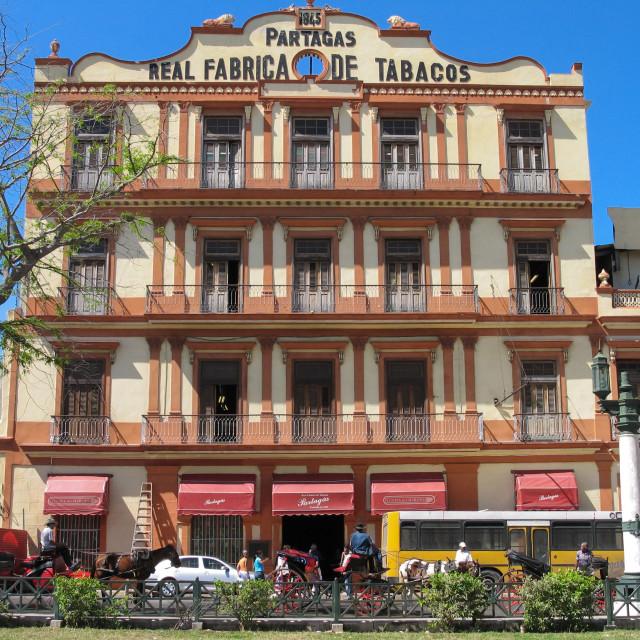 """The Partagas cigar factory - Havana, Cuba"" stock image"