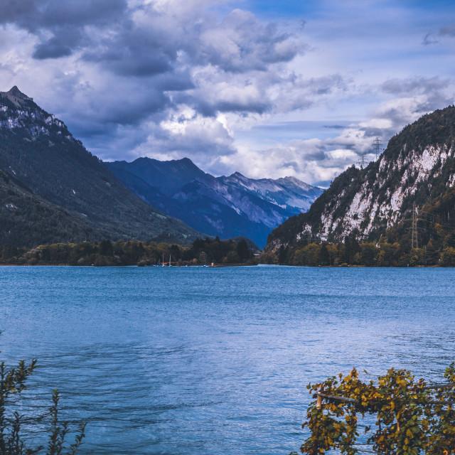 """""""Lake Thun (Thunersee), Bernese Oberland, Switzerland, Europe"""" stock image"""
