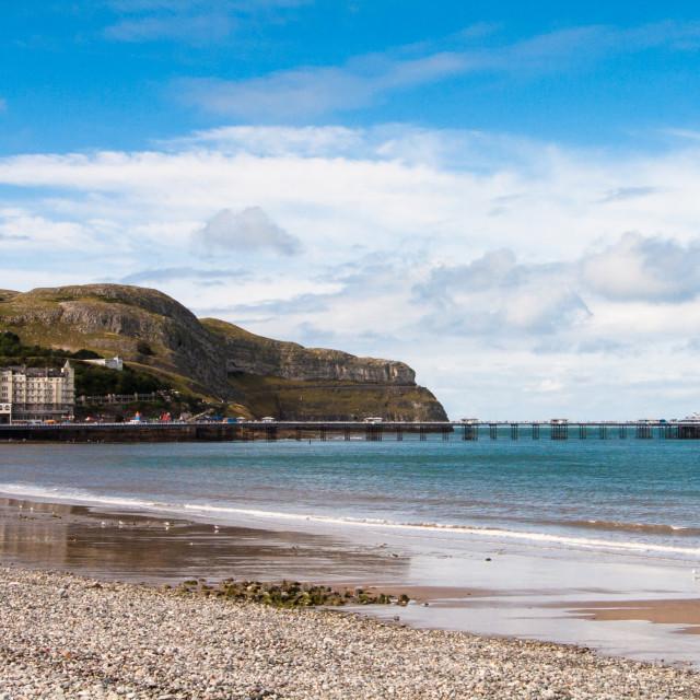 """Llandudno Pier, Llandudno, Conwy, Wales, UK."" stock image"