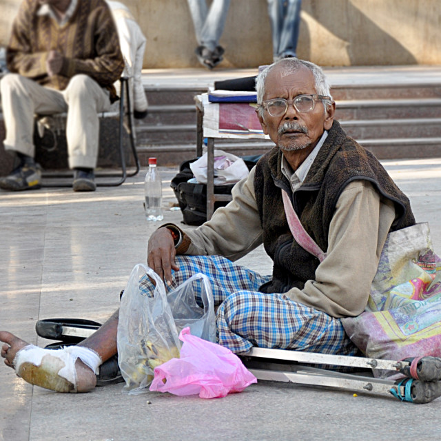 """A handicapped beggar"" stock image"