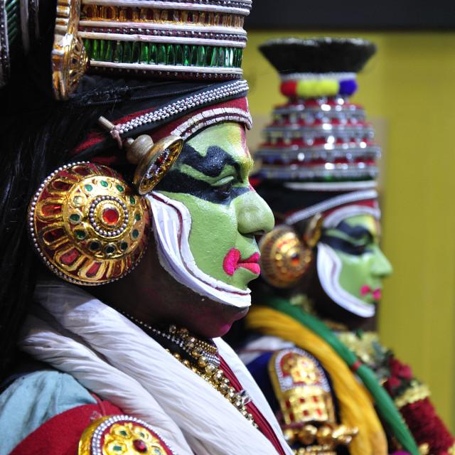 """""""The Kathakali Dancers"""" stock image"""