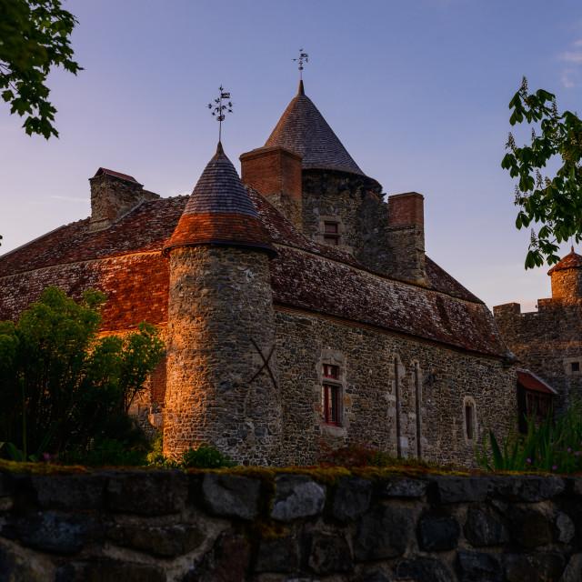 """""""Chateau de Bonnu"""" stock image"""