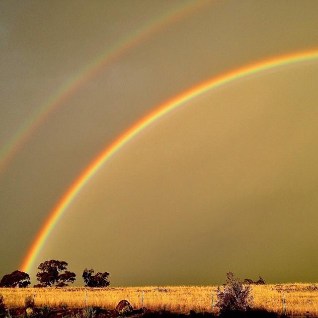 """Rainbows"" stock image"