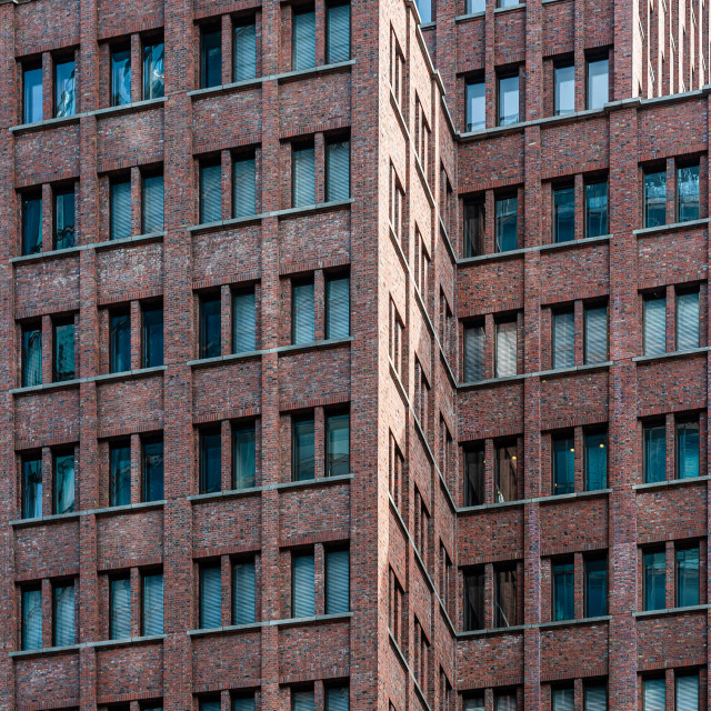 """""""Full frame pattern of windows in office building. Abstract background"""" stock image"""