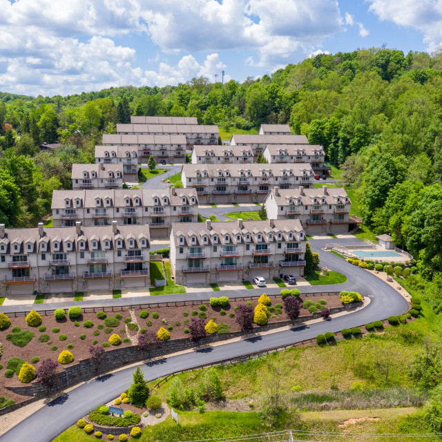 """""""Townhouse development by Cheat Lake in Morgantown West Virginia"""" stock image"""