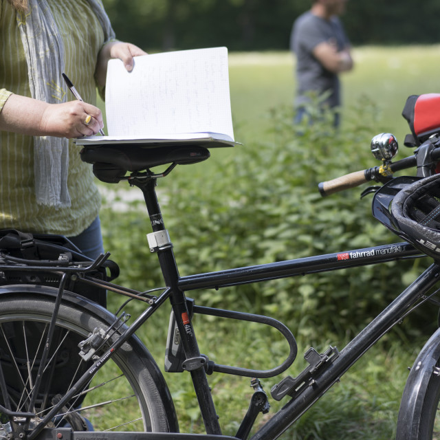 """""""Cycling Reporter"""" stock image"""