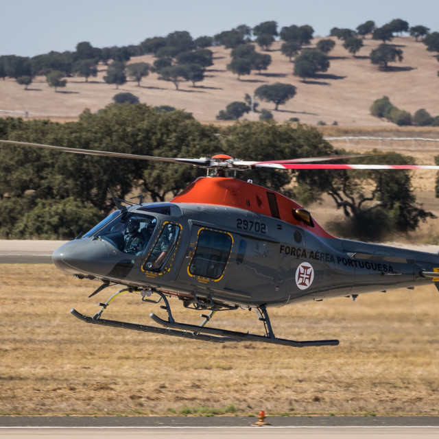 """Military helicopter AW119 Koala of the Portuguese Air Force"" stock image"