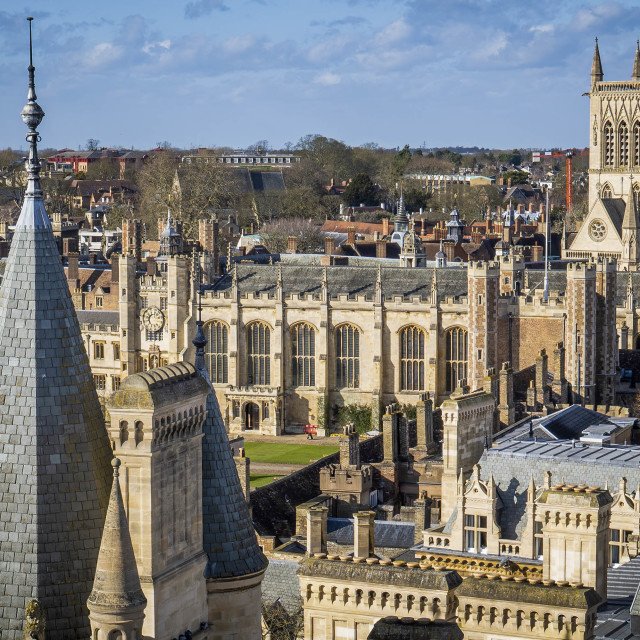 """""""Gonville & Caius and St Johns College. University of Cambridge UK."""" stock image"""