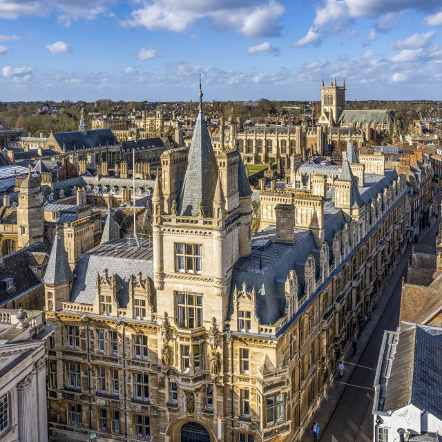 """Gonville & Caius College, University of Cambridge UK."" stock image"