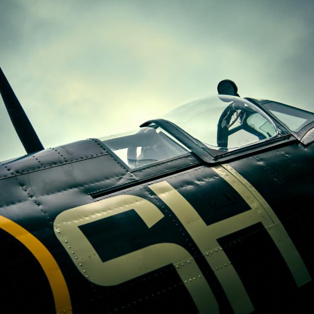 """Super Marine Spitfire MK805"" stock image"