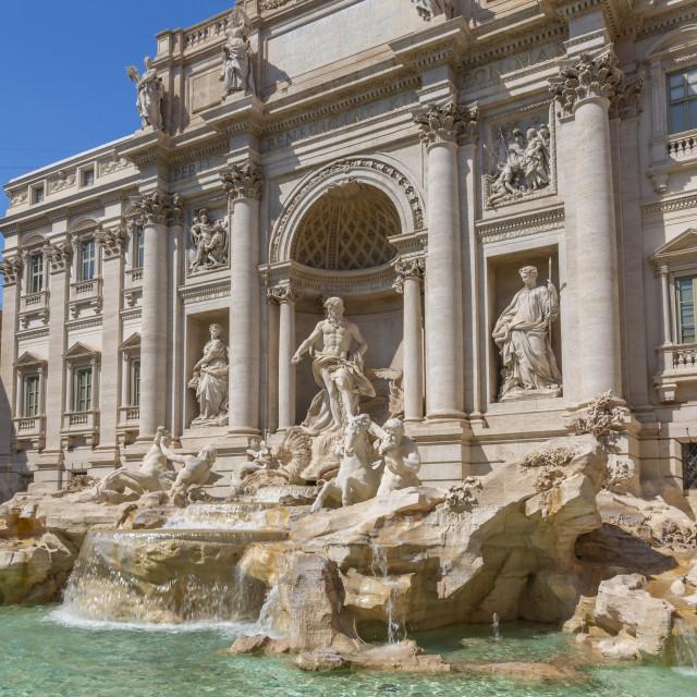"""""""View of Trevi Fountain in bright sunlight, Piazza di Trevi, Rome, Lazio,..."""" stock image"""