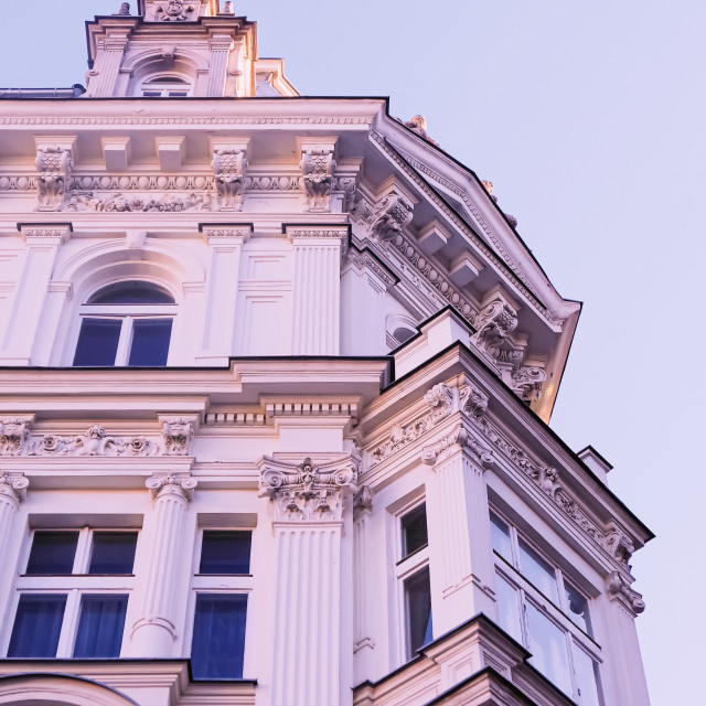 """Exterior facade of classic building in the European city, architecture and..."" stock image"