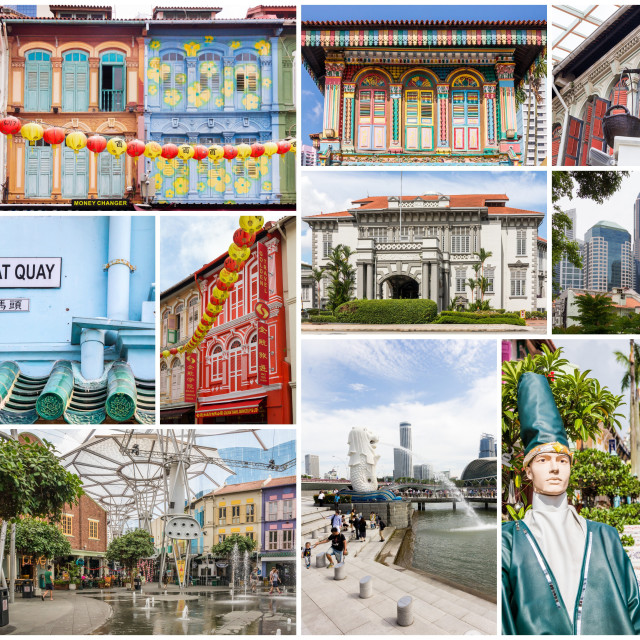 """""""Travel images collage of Singapore"""" stock image"""