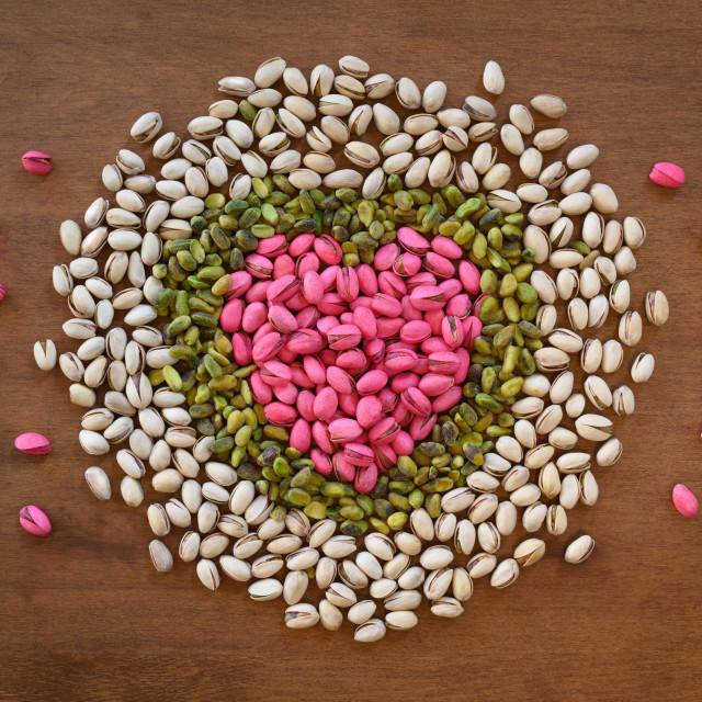 """I Love Pistachios"" stock image"