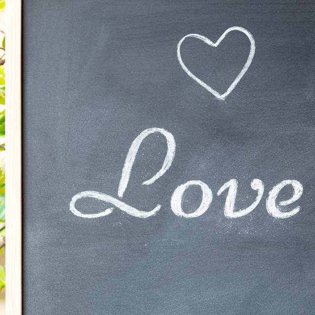 """Blackboard with the word love"" stock image"