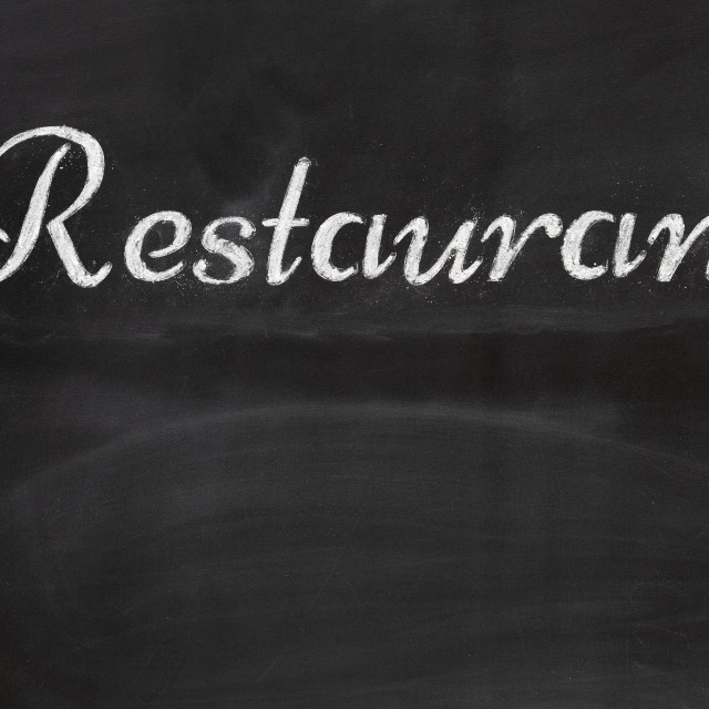"""Blackboard with the word Restaurant"" stock image"