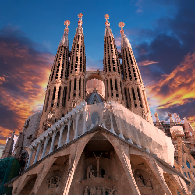 """Sagrada Familia in Barcelona, Spain"" stock image"