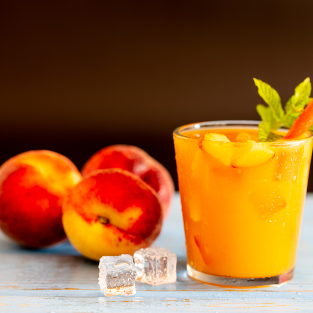 """Fresh peach juice"" stock image"