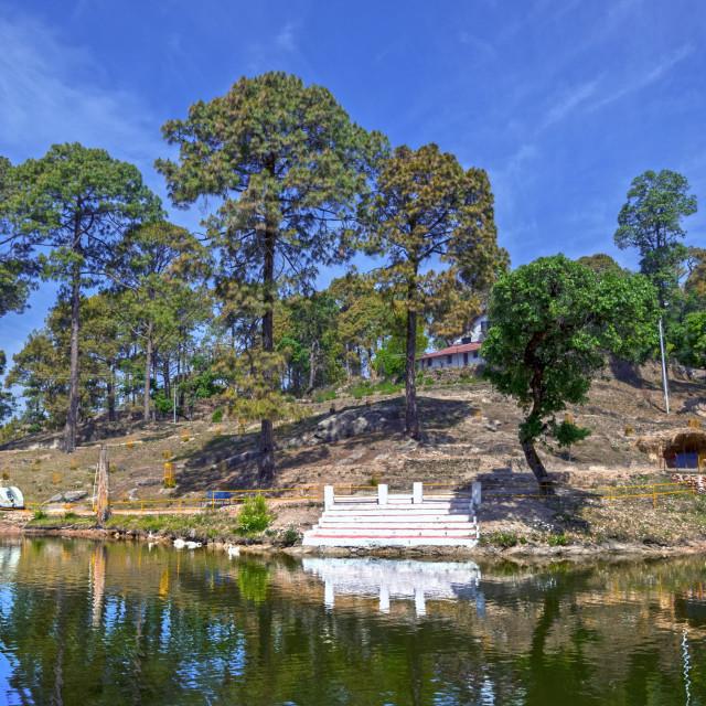 """""""A Beautiful View at Bhulla Lake"""" stock image"""