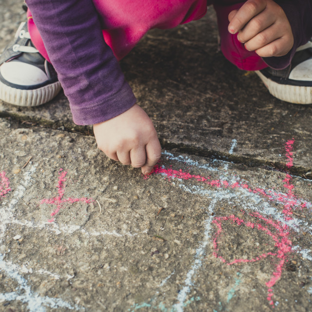 """""""Colored chalks"""" stock image"""