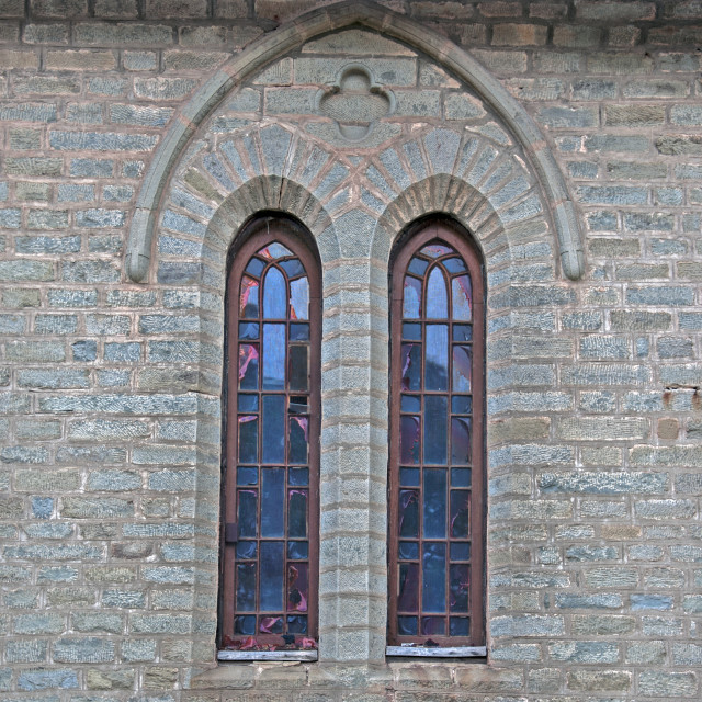 """""""Anglican styled windows"""" stock image"""