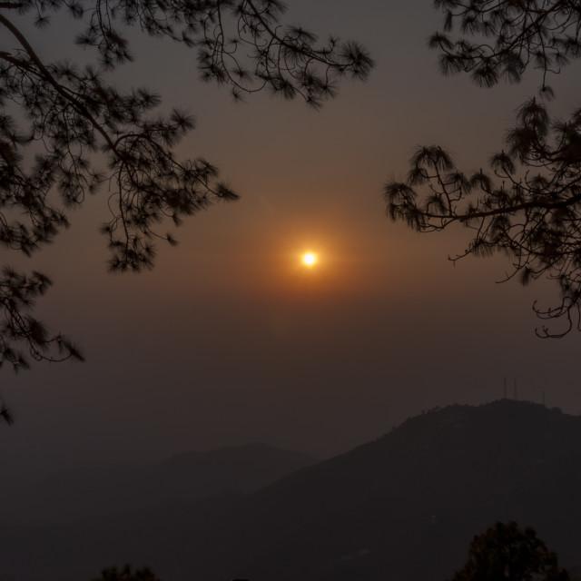 """""""The Sun Set Point, Kasauli"""" stock image"""