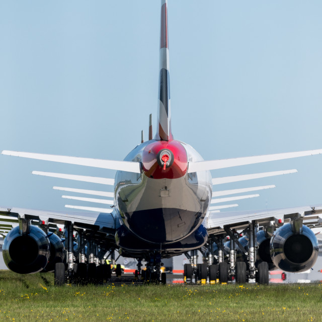 """""""Grounded Aircraft Glasgow Airport"""" stock image"""