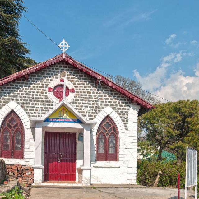"""The Baptist Church Of Kasauli"" stock image"