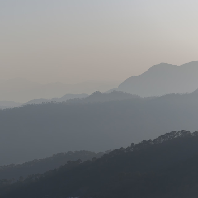 """""""The Misty Mountains"""" stock image"""