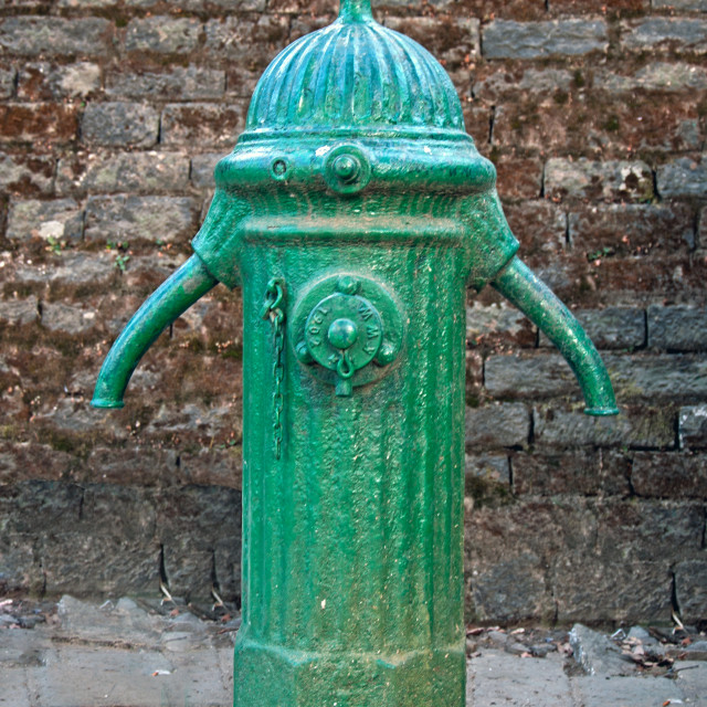 """""""A Colonial Era Water Hose Connector"""" stock image"""
