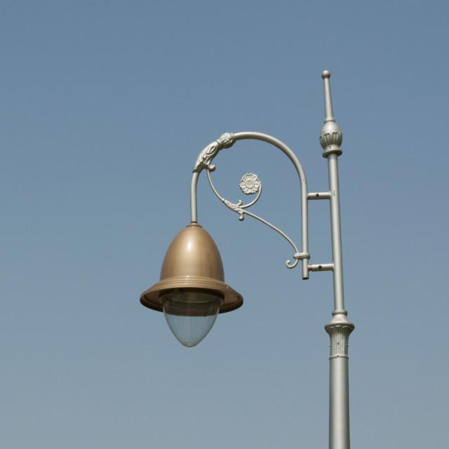 """A Lamp at The Pinjor Gardens or Yadavindra Gardens"" stock image"