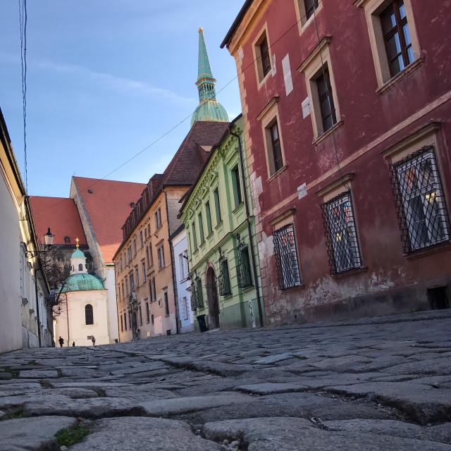 """Pretty Bratislava Street"" stock image"
