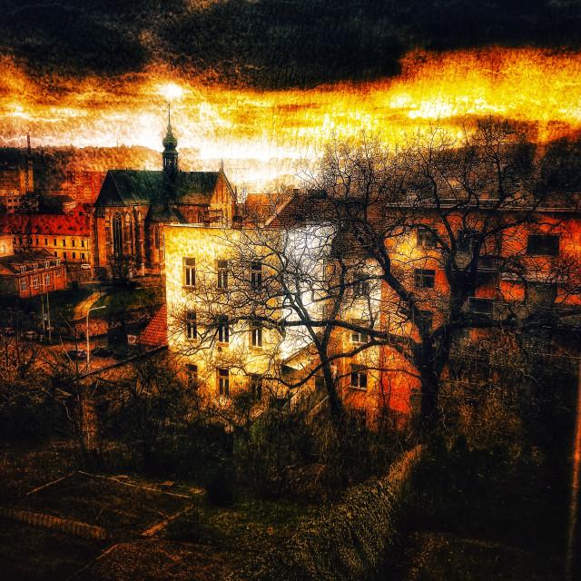 """Brno Sunset"" stock image"