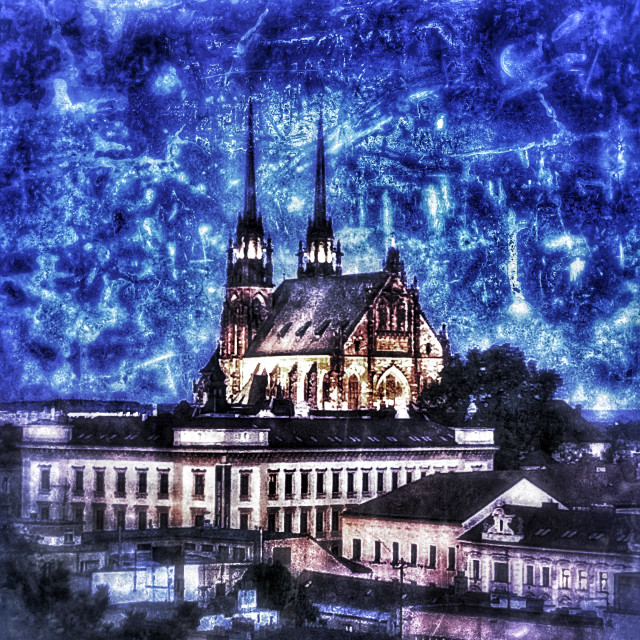 """Brno St. Peters and St. Pauls"" stock image"