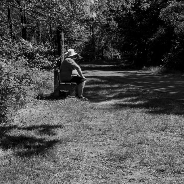 """Waiting man"" stock image"