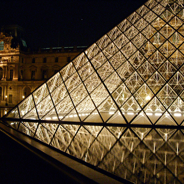 """The Louvre in Paris, France"" stock image"