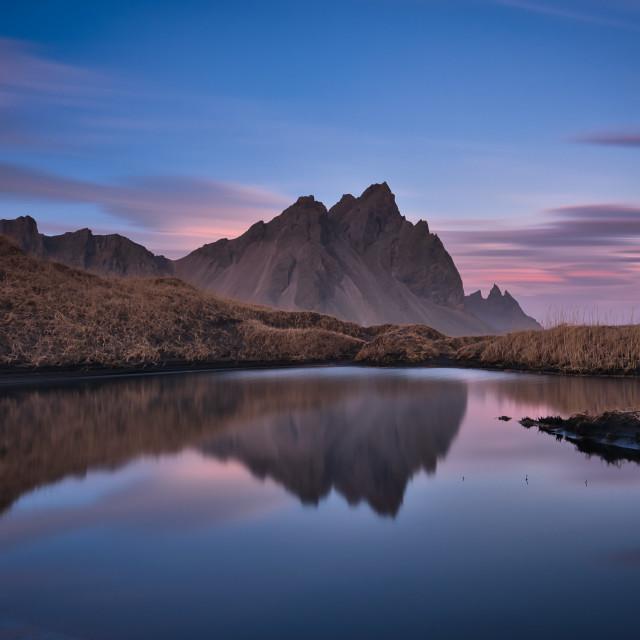 """""""Iceland Sunset"""" stock image"""