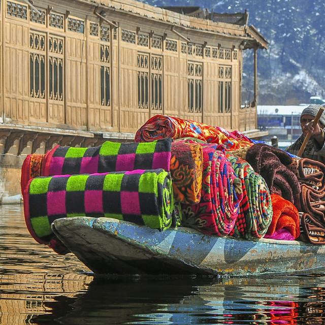 """""""A Floating Blanket Shop"""" stock image"""