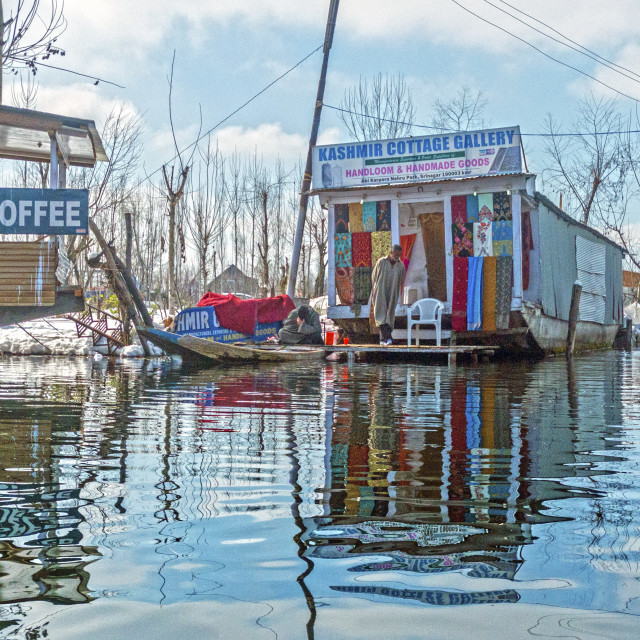"""A Floating Market"" stock image"