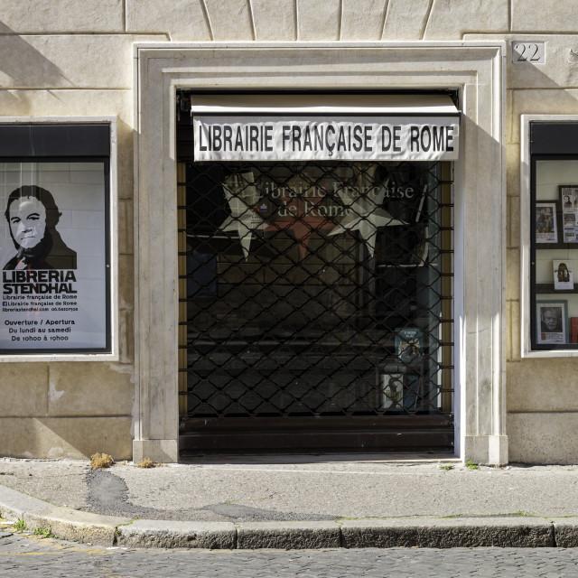 """Librairie Francaise De Rome 2"" stock image"