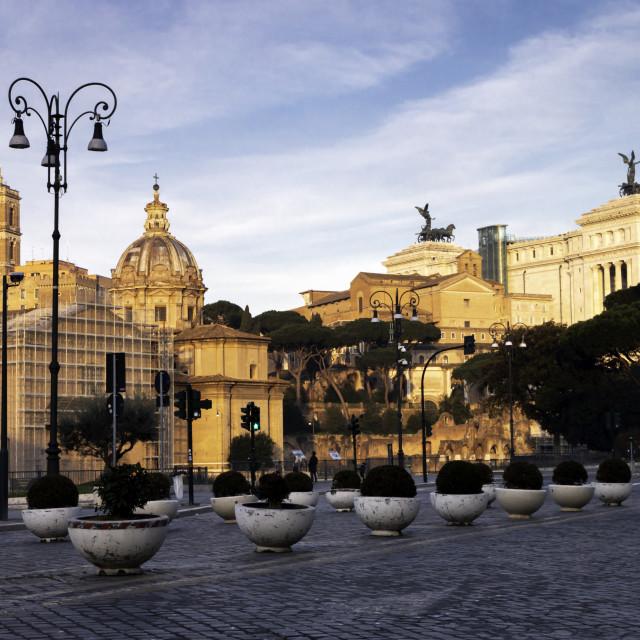 """""""Via dei Fori Imperiali"""" stock image"""