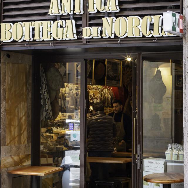 """Antica Botteca Di Norcia 2"" stock image"