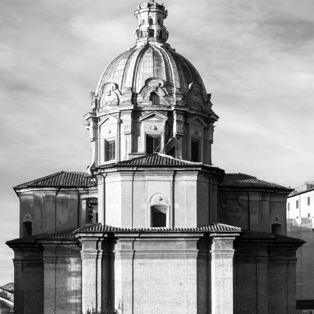 """Rear Of Church Of Santi Luca E Martina 1"" stock image"